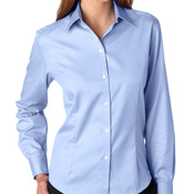 Ladies' Long-Sleeve Non-Iron Pinpoint
