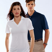 UltraClub® Ladies' Platinum Performance Jacquard Polo with TempControl Technology