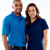 UltraClub® Men's Cool & Dry Jacquard Performance Polo