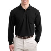 Port Authority® - Long Sleeve Silk Touch™ Polo with Pocket. K500LSP