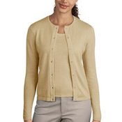 Port Authority® - Ladies Fine-Gauge Crewneck Cardigan Sweater. LSW280