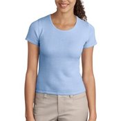 Port Authority® - Ladies Fine-Gauge Short Sleeve Scoop Neck Sweater. LSW282