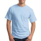 Tagless T Shirt with Pocket