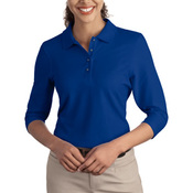 Port Authority® - Ladies Silk Touch™ 3/4-Sleeve Polo. L562