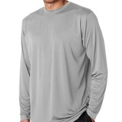 Grey Performance Interlock Long-Sleeve