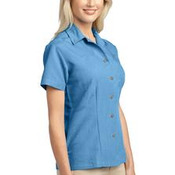 Port Authority® - Ladies Patterned Easy Care Camp Shirt. L536