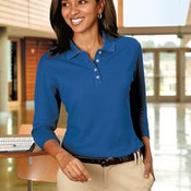Port Authority® - Ladies EZCotton™ Pique 3/4-Sleeve Polo. L801