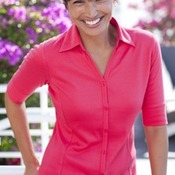 Port Authority® - Ladies Silk Touch™ Interlock Button-Front Polo. L523