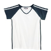 V-Neck With Color Strip Sleeves