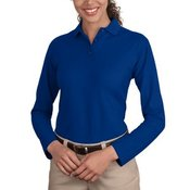 Port Authority® - Ladies Long Sleeve Silk Touch™ Polo. L500LS