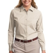 Ladies Long Sleeve Easy Care, Soil Resistant Shirt
