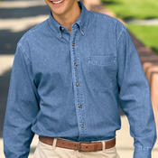 Port Authority® - Tall Long Sleeve Denim Shirt. TLS600