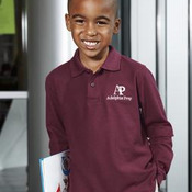 Port Authority® - Youth Long Sleeve Silk Touch™ Polo. Y500LS