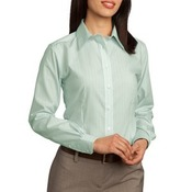 Ladies Non Iron Button Down Fine Line Shirt