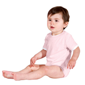 Infant Short Sleeve 1 Piece with Shoulder Snaps