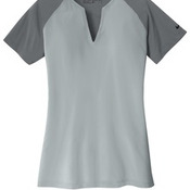 Golf Ladies Dri FIT Stretch Woven V Neck Top