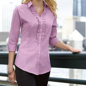 Port Authority® - Ladies Crosshatch Ruffle Easy Care Shirt. L644
