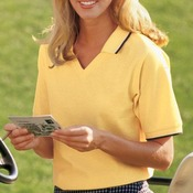 Port Authority® - Ladies Cool Mesh™ Polo with Tipping Stripe Trim. L431