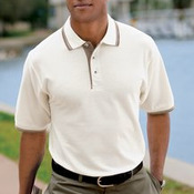 Port Authority® - Silk Touch™ Polo with Stripe Trim. K501