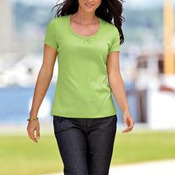 Port Authority® Ladies Silk Touch™ Interlock Scoop Neck Shirt. L522
